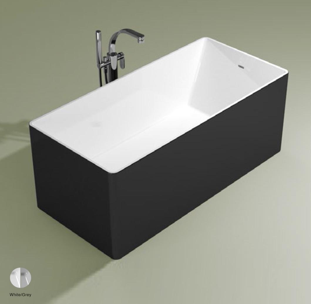 Wash Bath-tub 150 cm in Pietraluce BICOLOR White/Grey