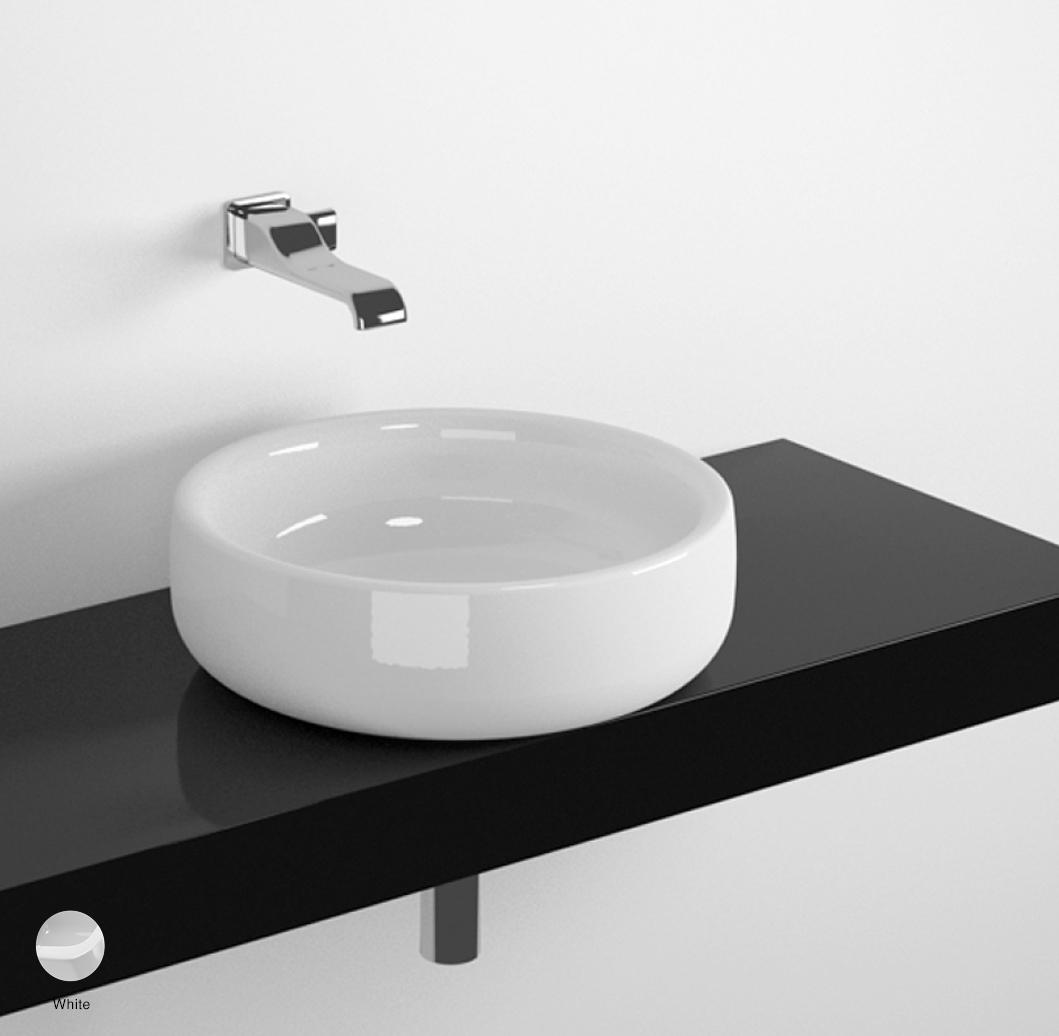 Bonola Shelf from 80 to 250 x 46 x h 10 cm suitable for Bonola 46 basin White