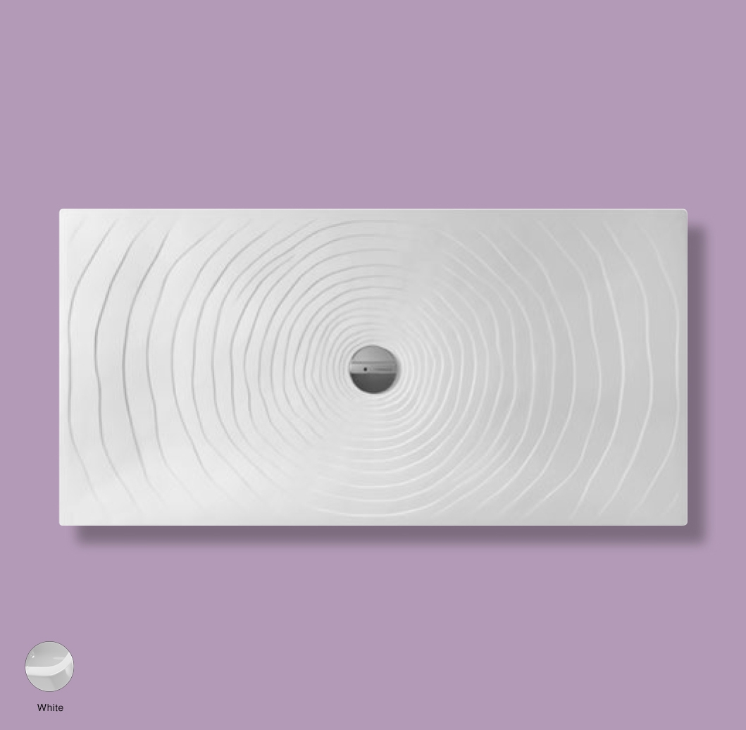 Water Drop Laid on or built-in in the floor shower tray 160x80 cm White