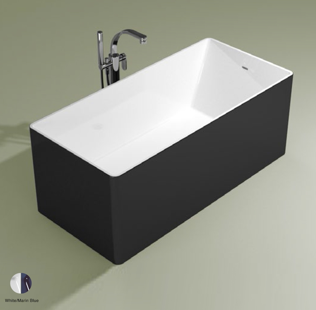 Wash Bath-tub 150 cm in Pietraluce BICOLOR White/Marine Blue