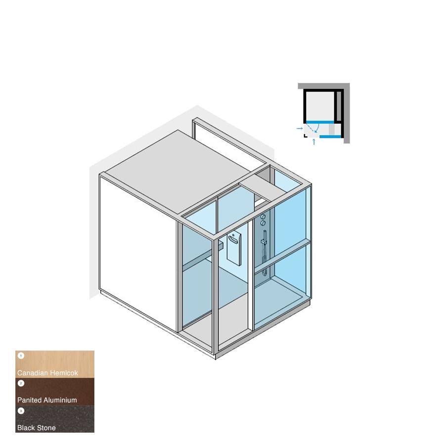 Logica H Right-Hand Corner RH Stone 214x250x226h 4.5kW