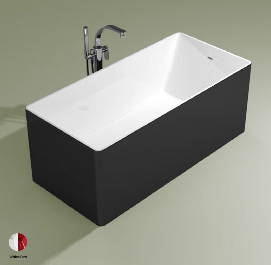 Wash Bath-tub 150 cm in Pietraluce BICOLOR White/Red