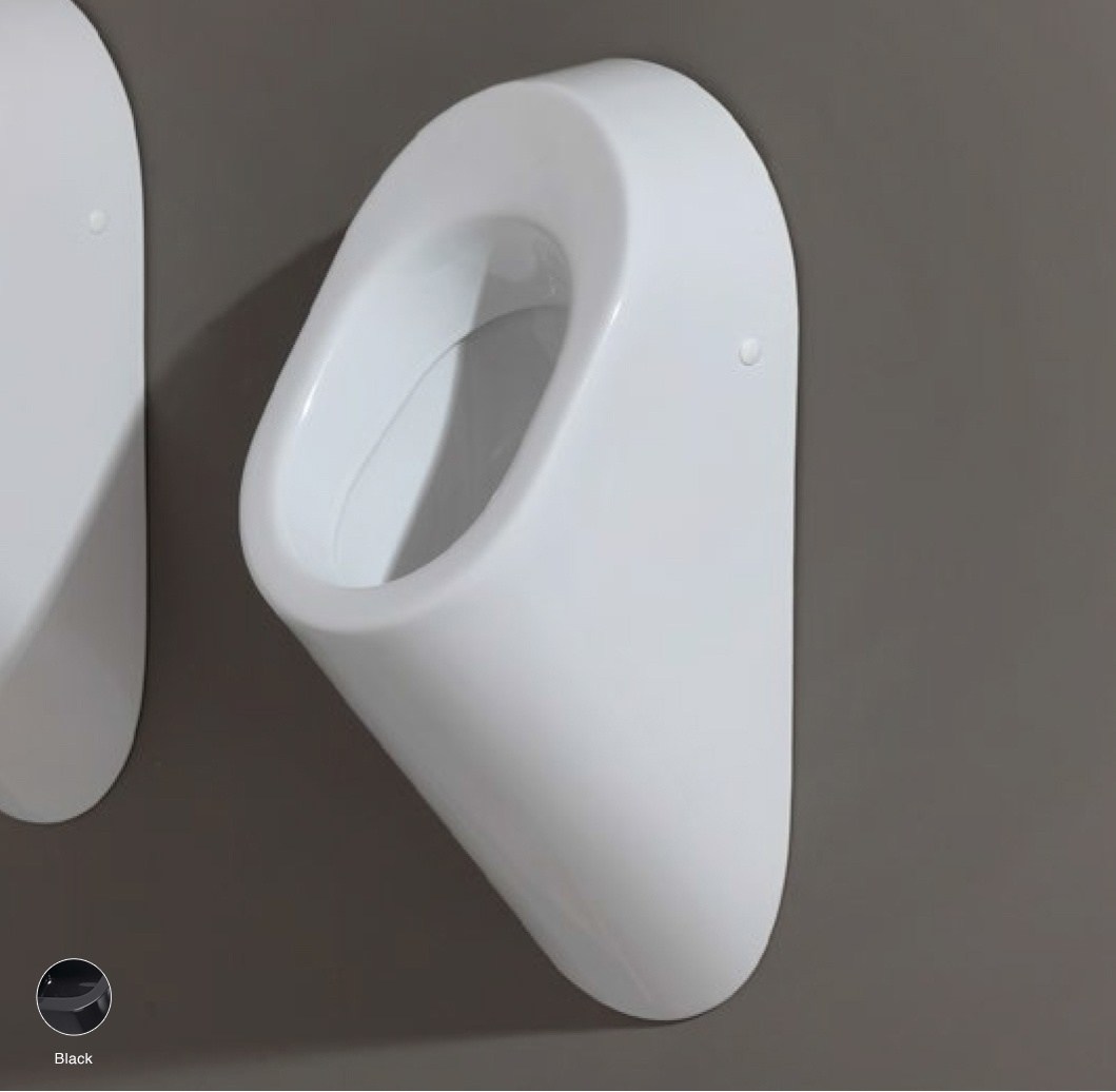 Key Urinal to wall Black