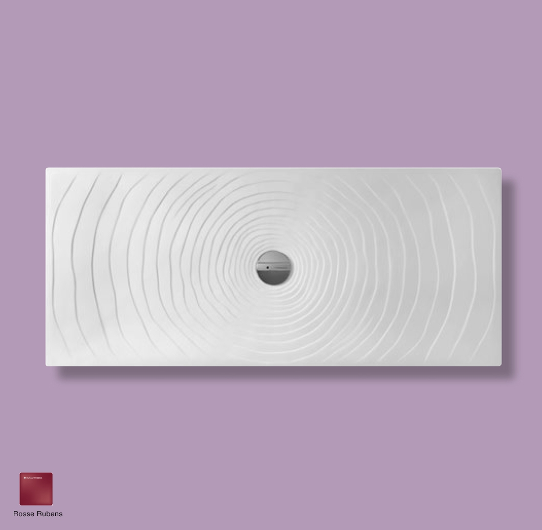 Water Drop Laid on or built-in in the floor shower tray 160x70 cm Rosso rubens