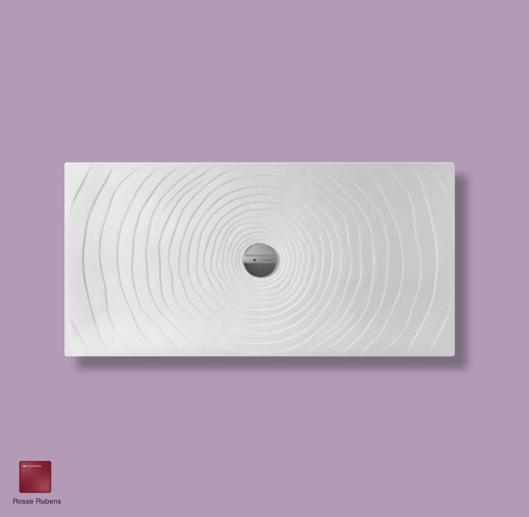 Water Drop Laid on or built-in in the floor shower tray 140x70 cm Rosso Rubens