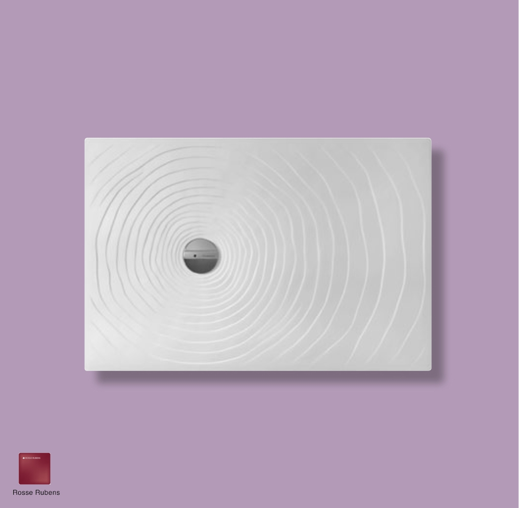 Water Drop Laid on or built-in reversible shower tray 120x80 cm Rosso Rubens