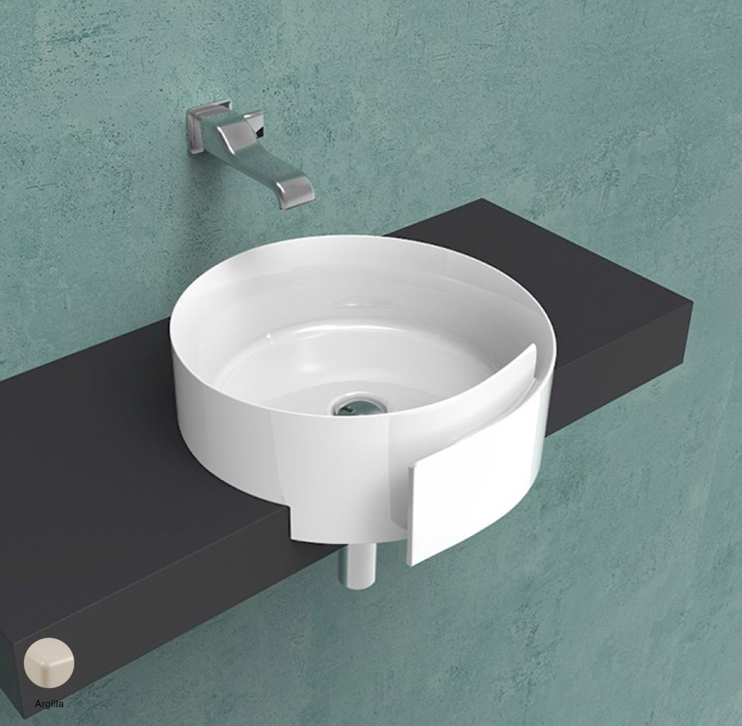 Roll Semi-inset basin 44 cm without overflow, without tap ledge Argilla