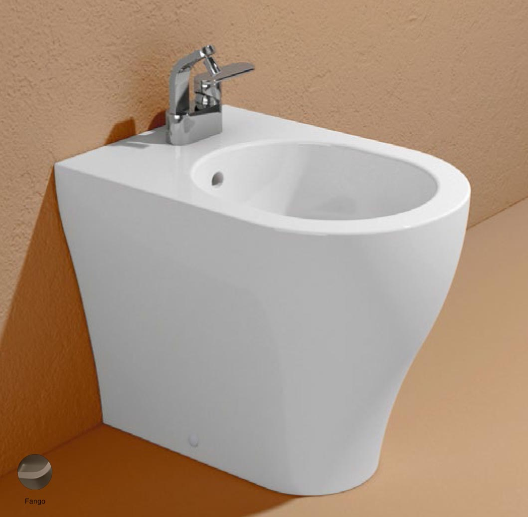 App Back to wall single-hole bidet with overflow, without tap hole Fango