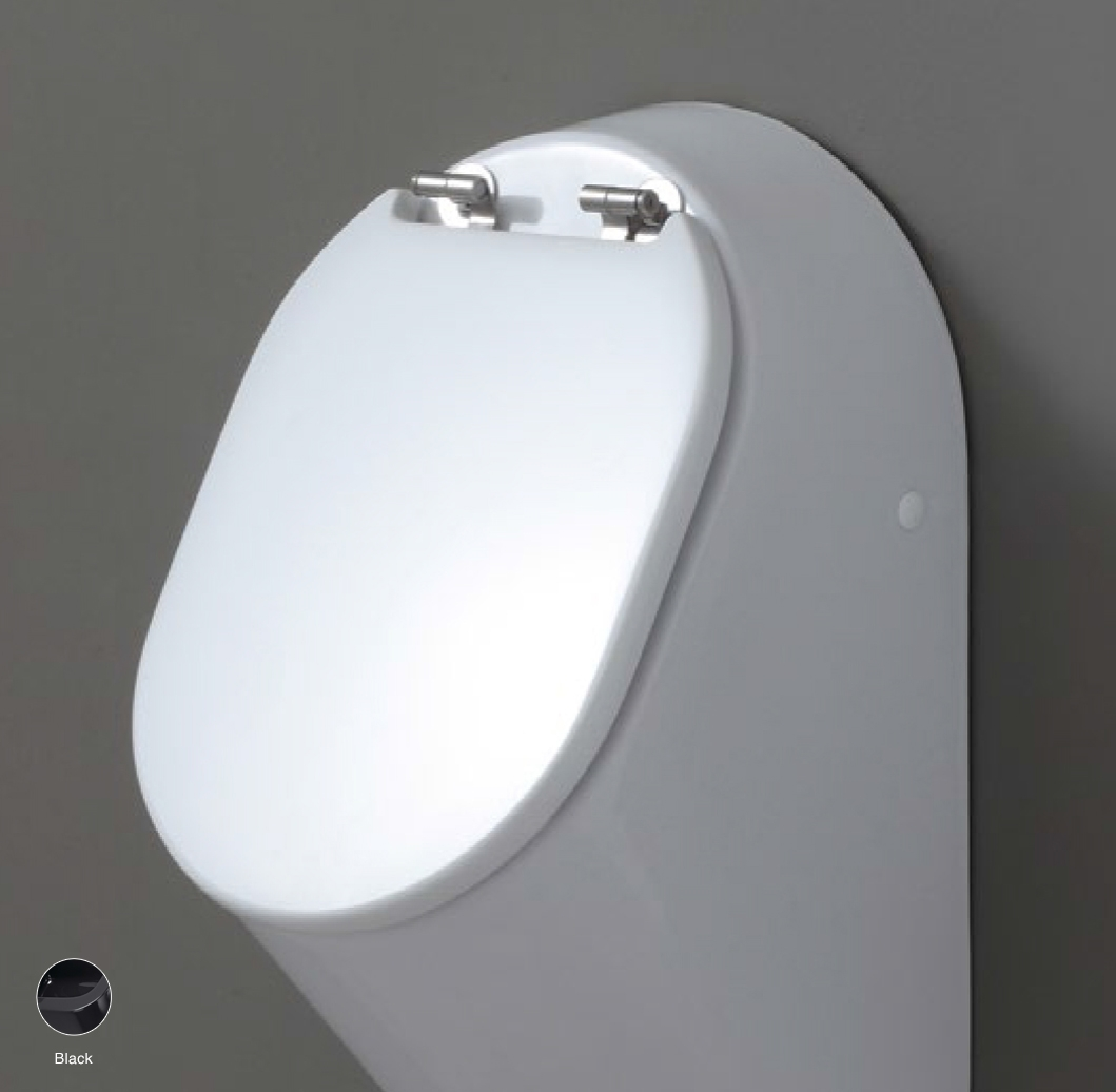 Key Wood/polyester cover suitable for urinal Black