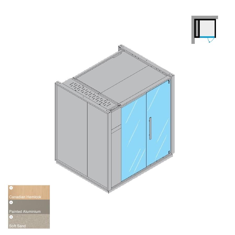 One S Left-Hand Corner LH Soft Sand 214x171x226h 6kW