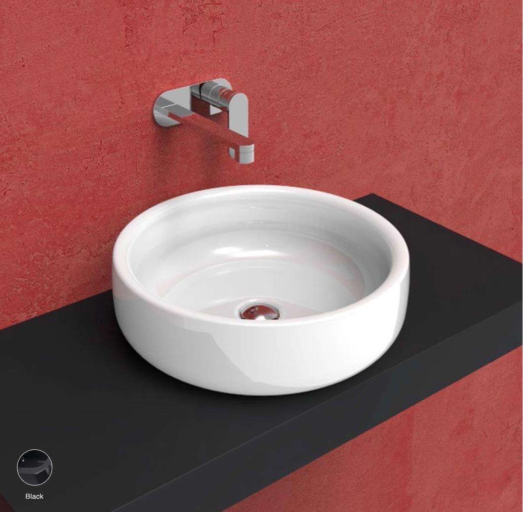 Bonola Basin 46 cm - countertop or suitable for pedestal Black