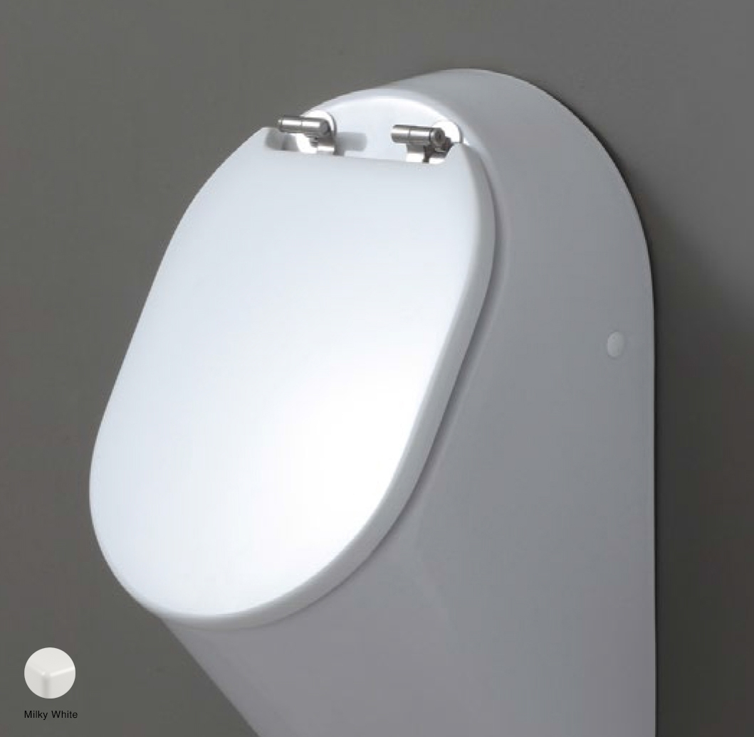Key Wood/polyester cover suitable for urinal Milky White