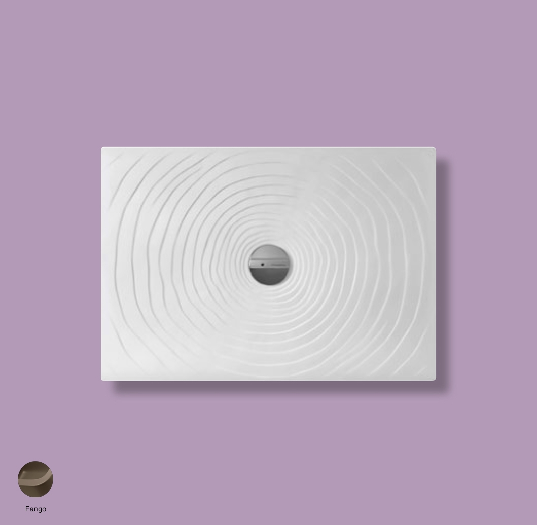 Water Drop Laid on or built-in in the floor shower tray 100x70 cm Fango