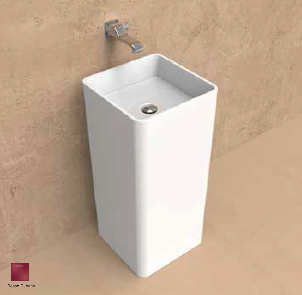 Monowash Wall column-basin 40 cm Rosso Rubens