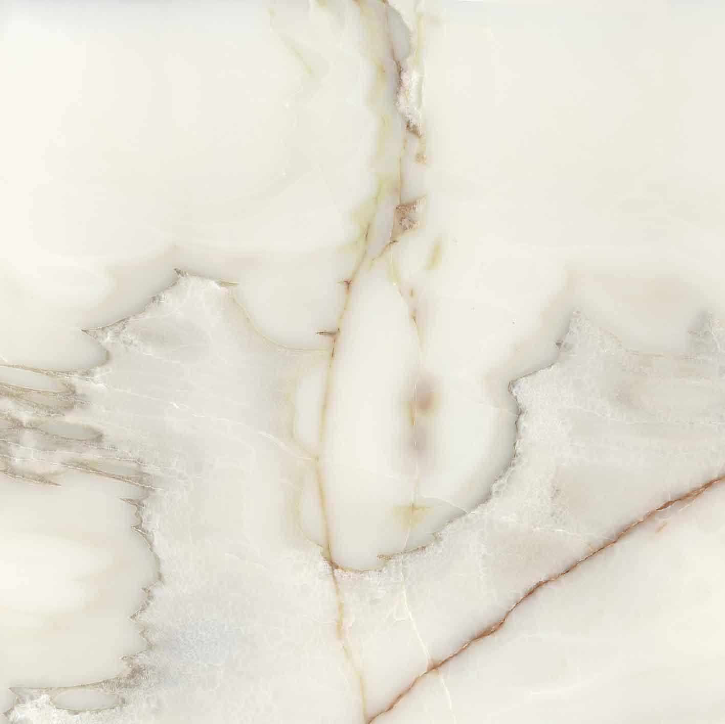 Les Bijoux de Rex Onyx Blanche Matte 6mm 120 x 120
