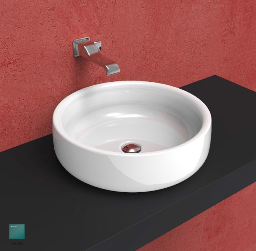 Bonola Basin 50 cm - countertop or suitable for pedestal Petrolio