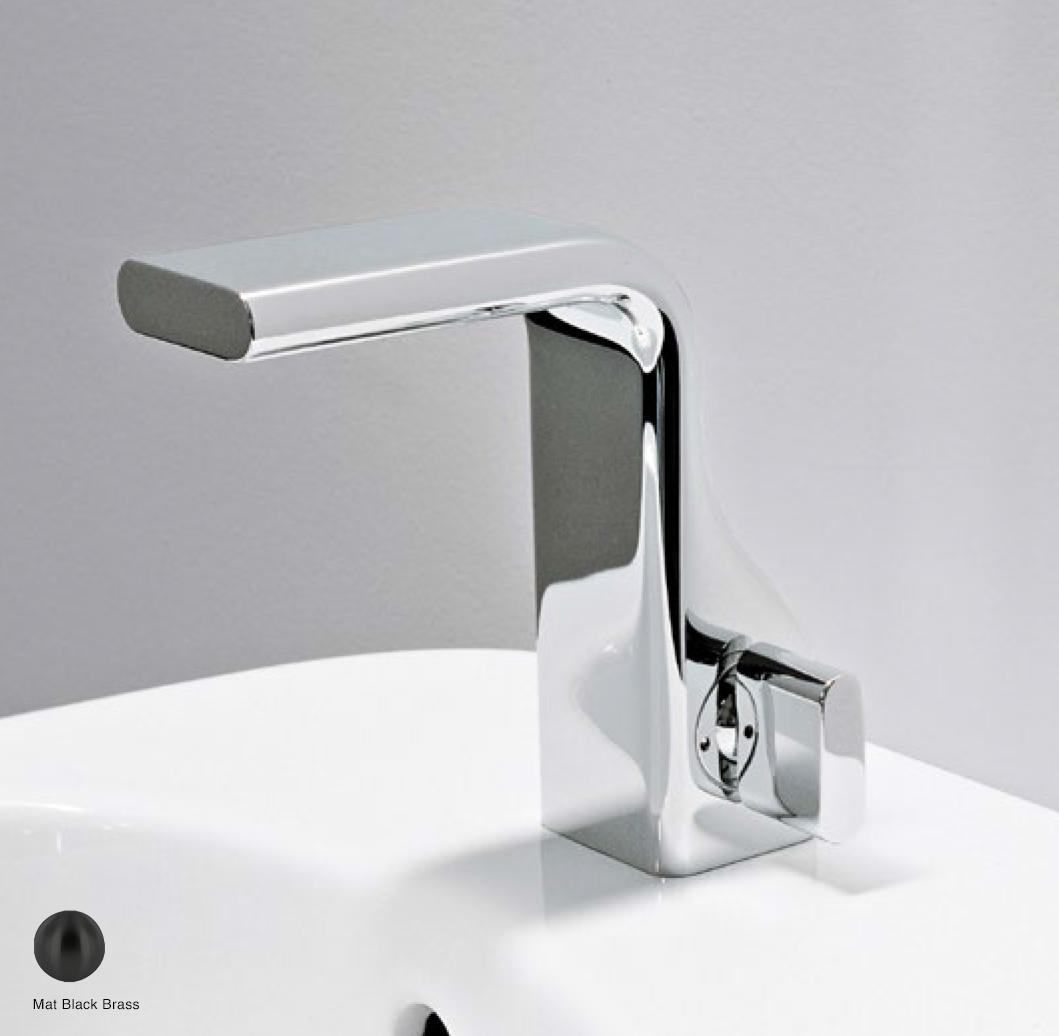 Noke Single lever basin mixer, drain included Mat Black