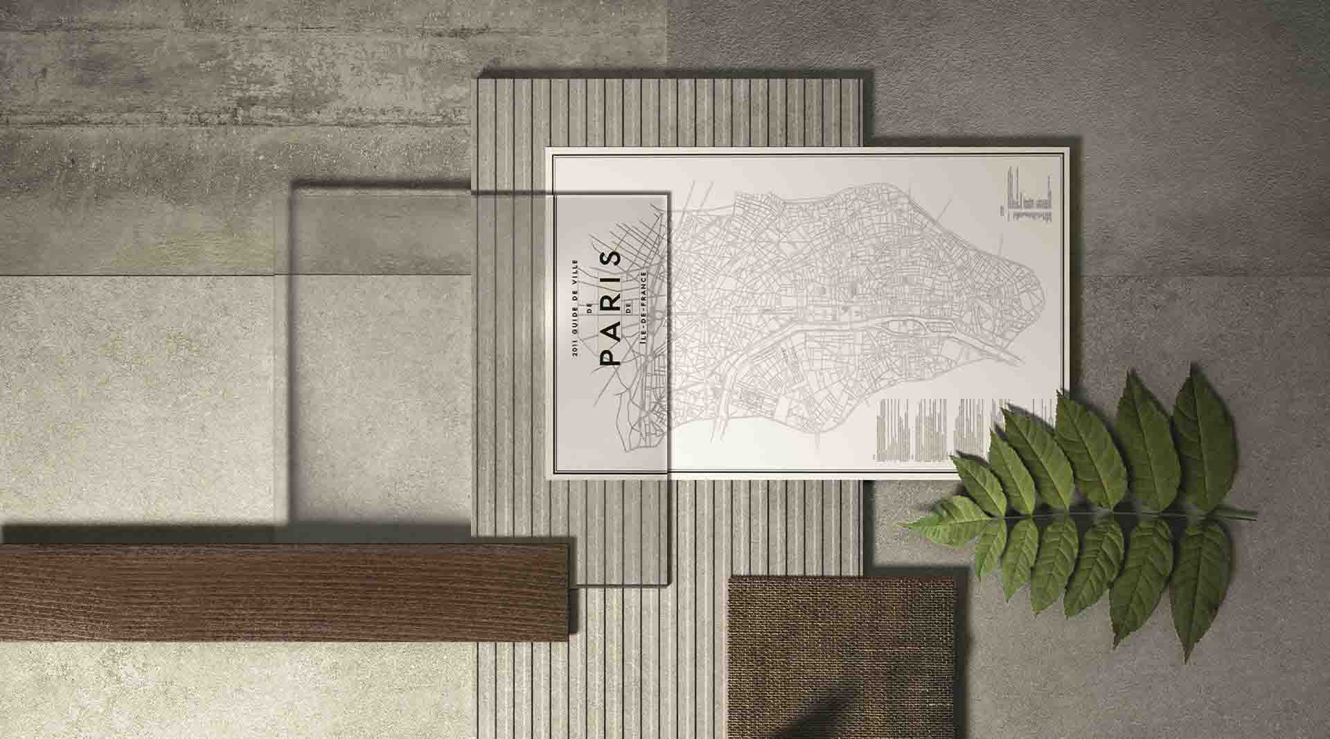 Pllaka nga gres porcelani me efekt të çimentos: Stili industrial në dizajnin e enterierit Thumbnail