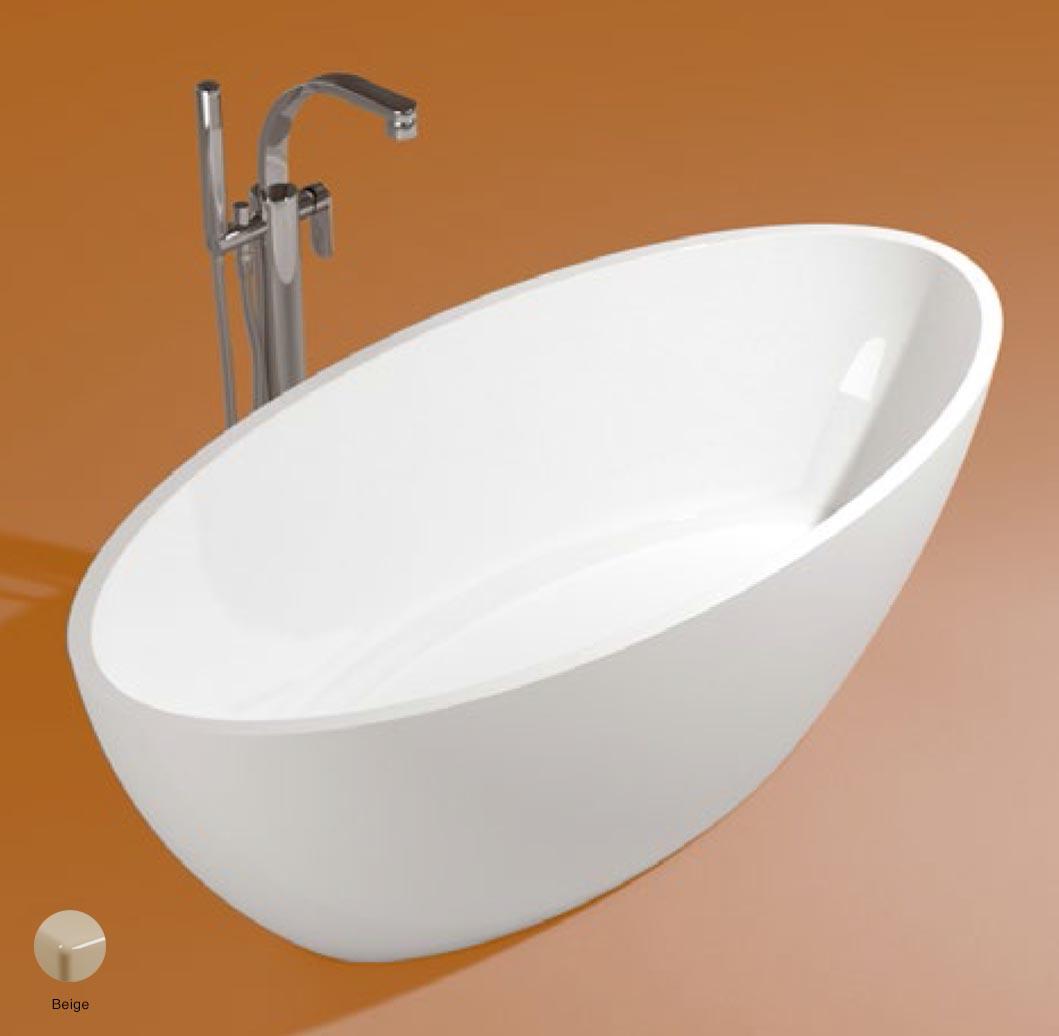 App Bath-tub in Pietraluce 150cm Beige Glossy