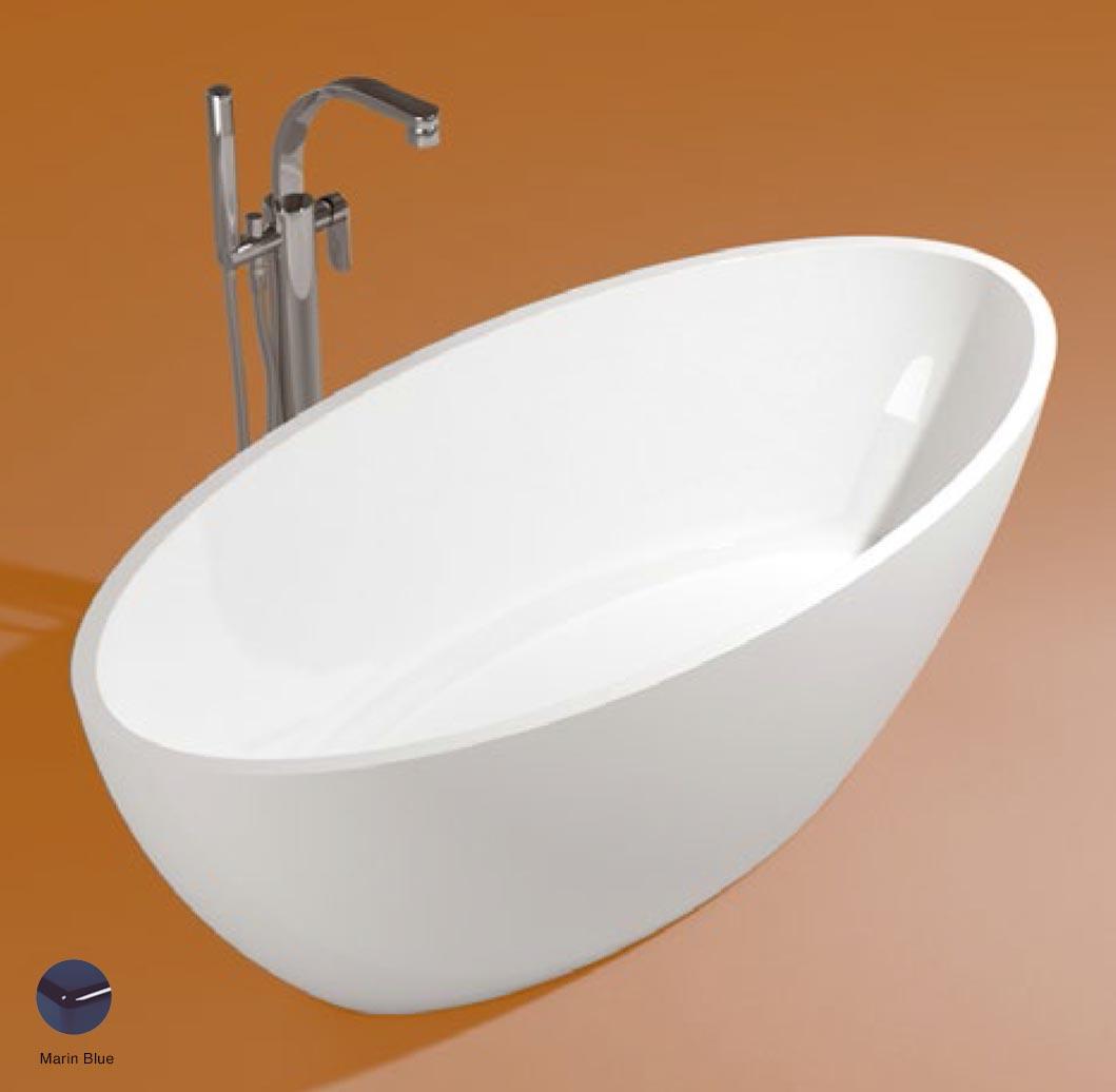 App Bath-tub in Pietraluce 165cm Marine Blue Glossy
