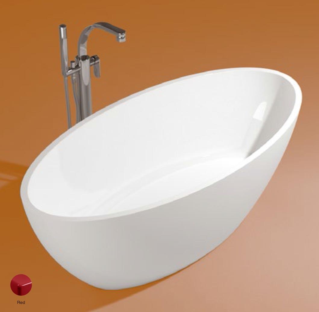 App Bath-tub in Pietraluce 165cm Red Glossy