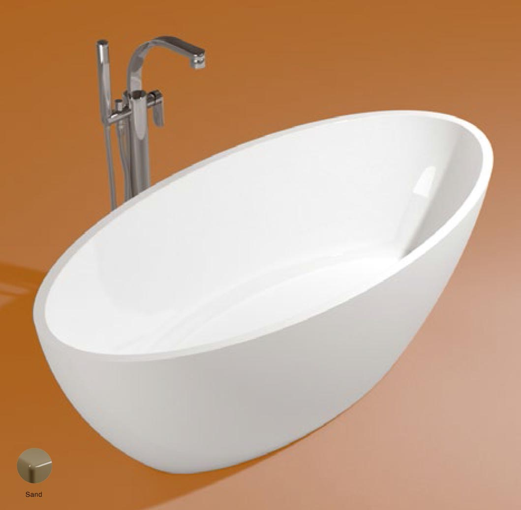 App Bath-tub in Pietraluce 165cm Sand Glossy