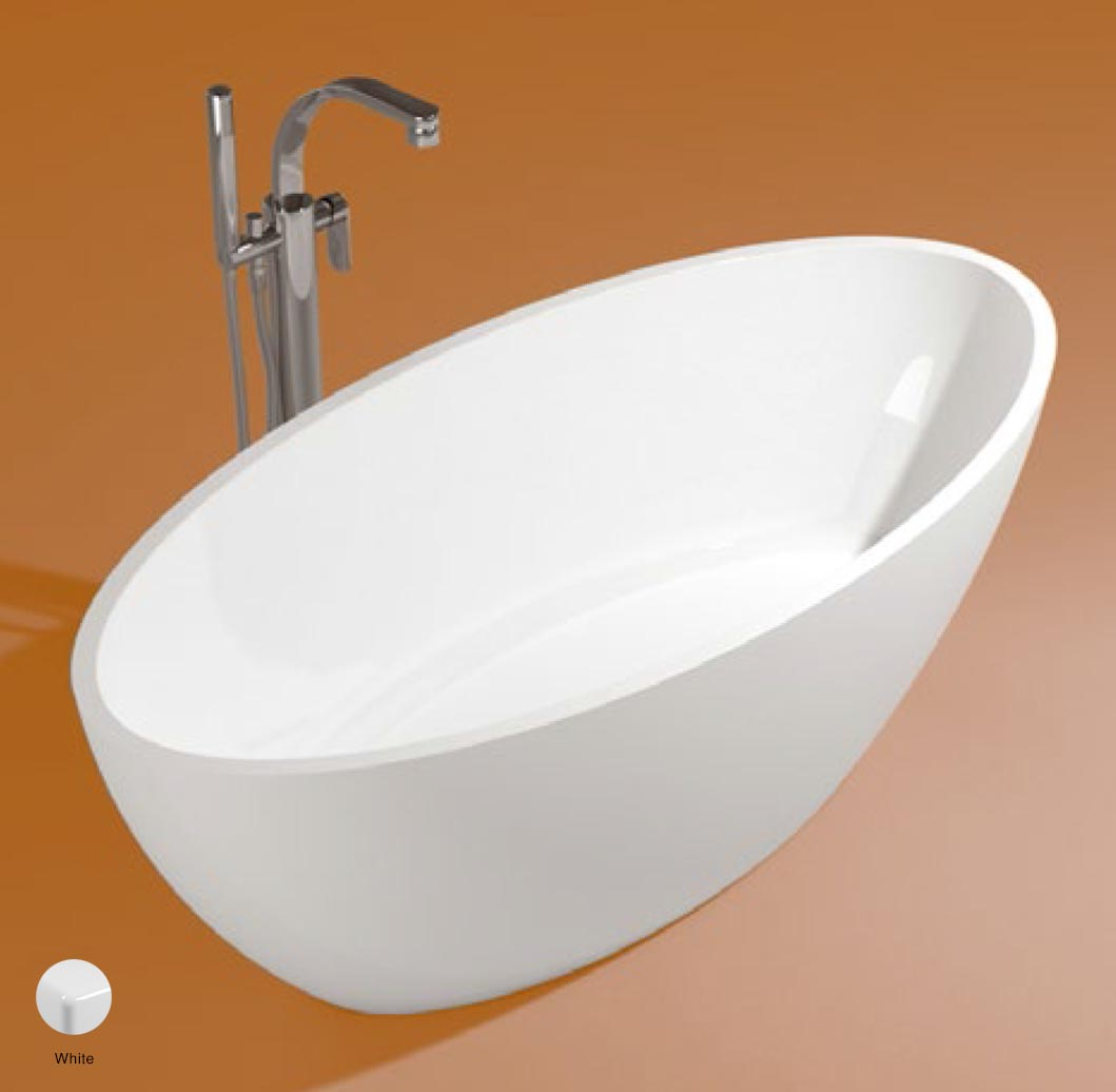 App Bath-tub in Pietraluce 165cm White Glossy