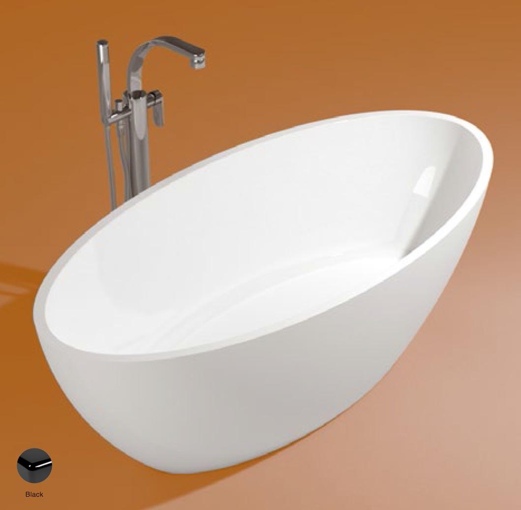 App Bath-tub in Pietraluce 176cm Black Glossy
