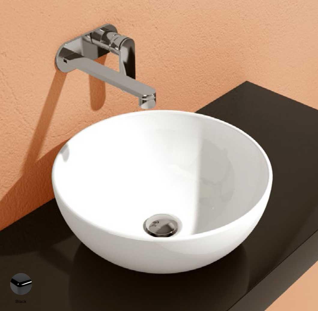 App Countertop Basin 40 cm Black Glossy