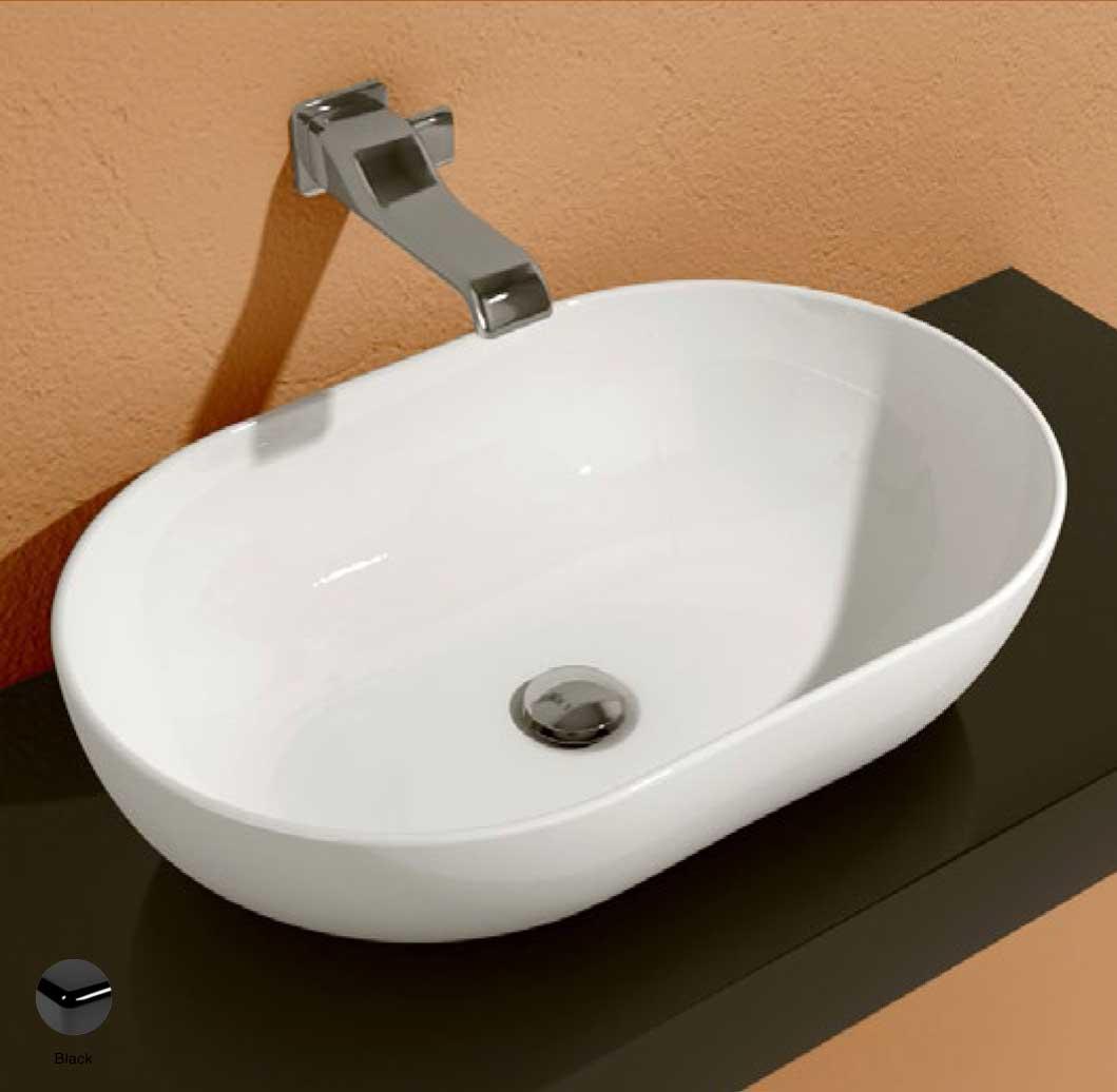 App Countertop Basin 62 cm Black Glossy