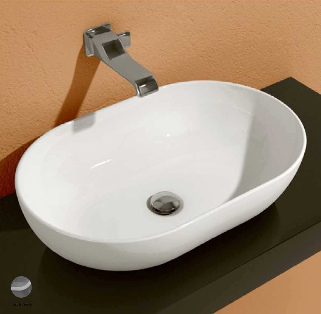 App Countertop Basin 62 cm Lava Grey Matte