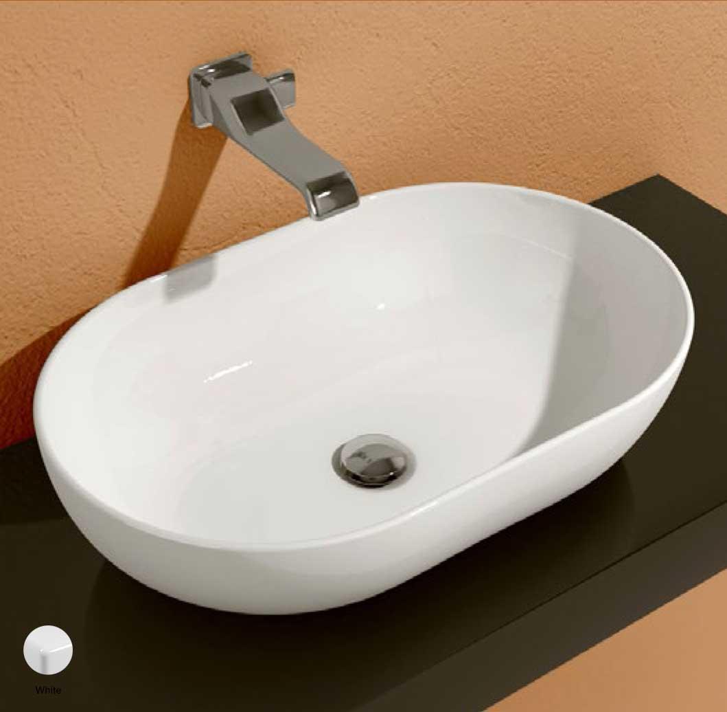 App Countertop Basin 62 cm White Glossy