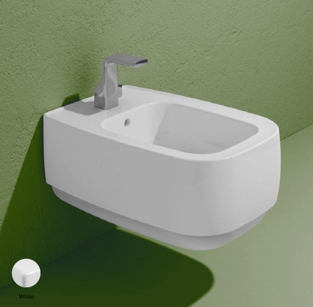 Flag Wall hung bidet with goclean system White Glossy