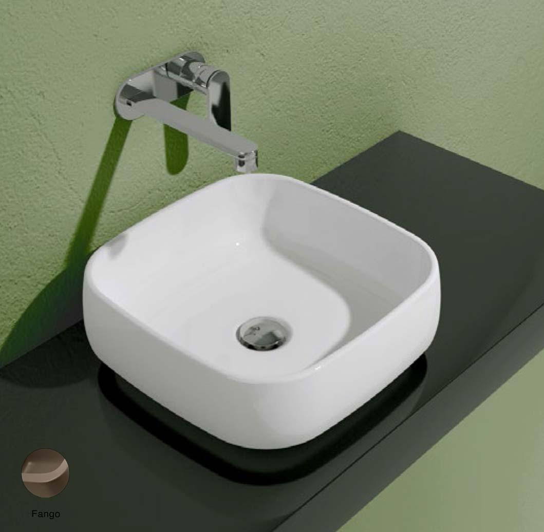 Flag Countertop basin without tap ledge 40cm Fango Matte