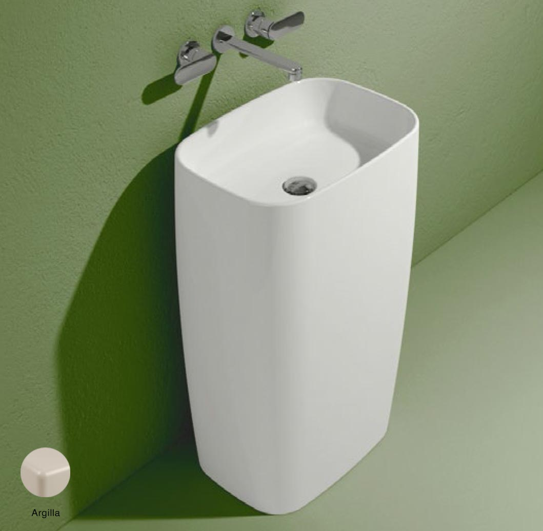 Flag Standing basin to wall without tap ledge Argilla Matte