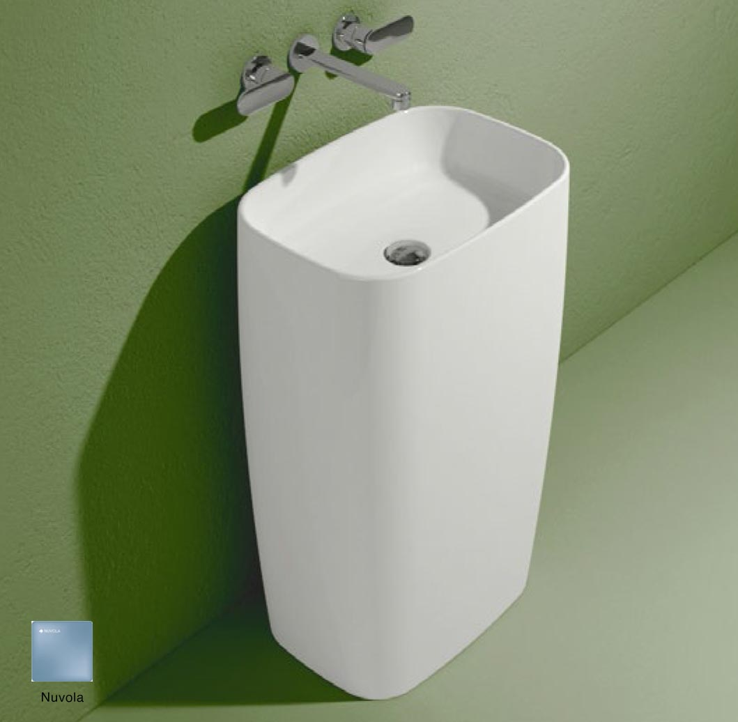 Flag Standing basin to wall without tap ledge Nuvola Matte