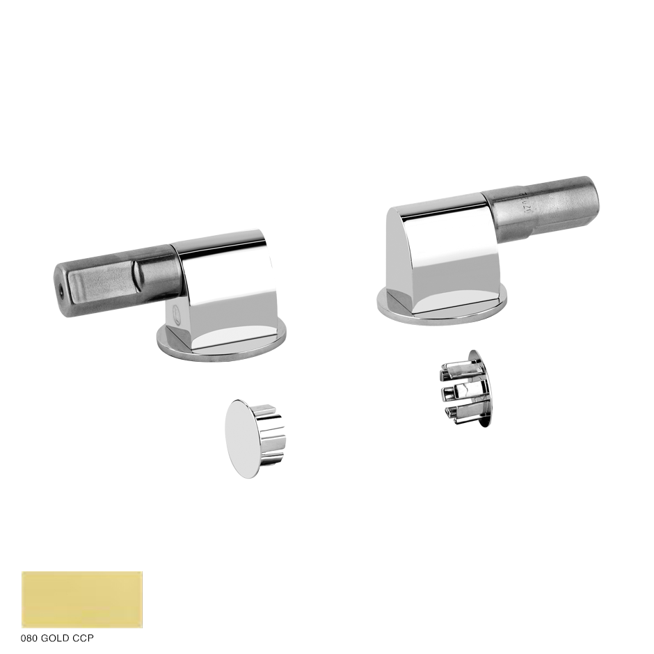 Cono Soft-closing hardware and lateral holes plugs 080 Gold CCP