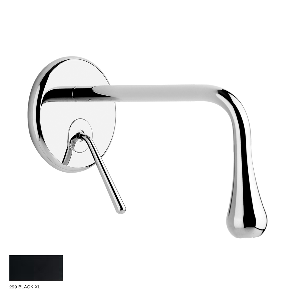 Goccia Built-in mixer with spout, without waste 299 Black XL