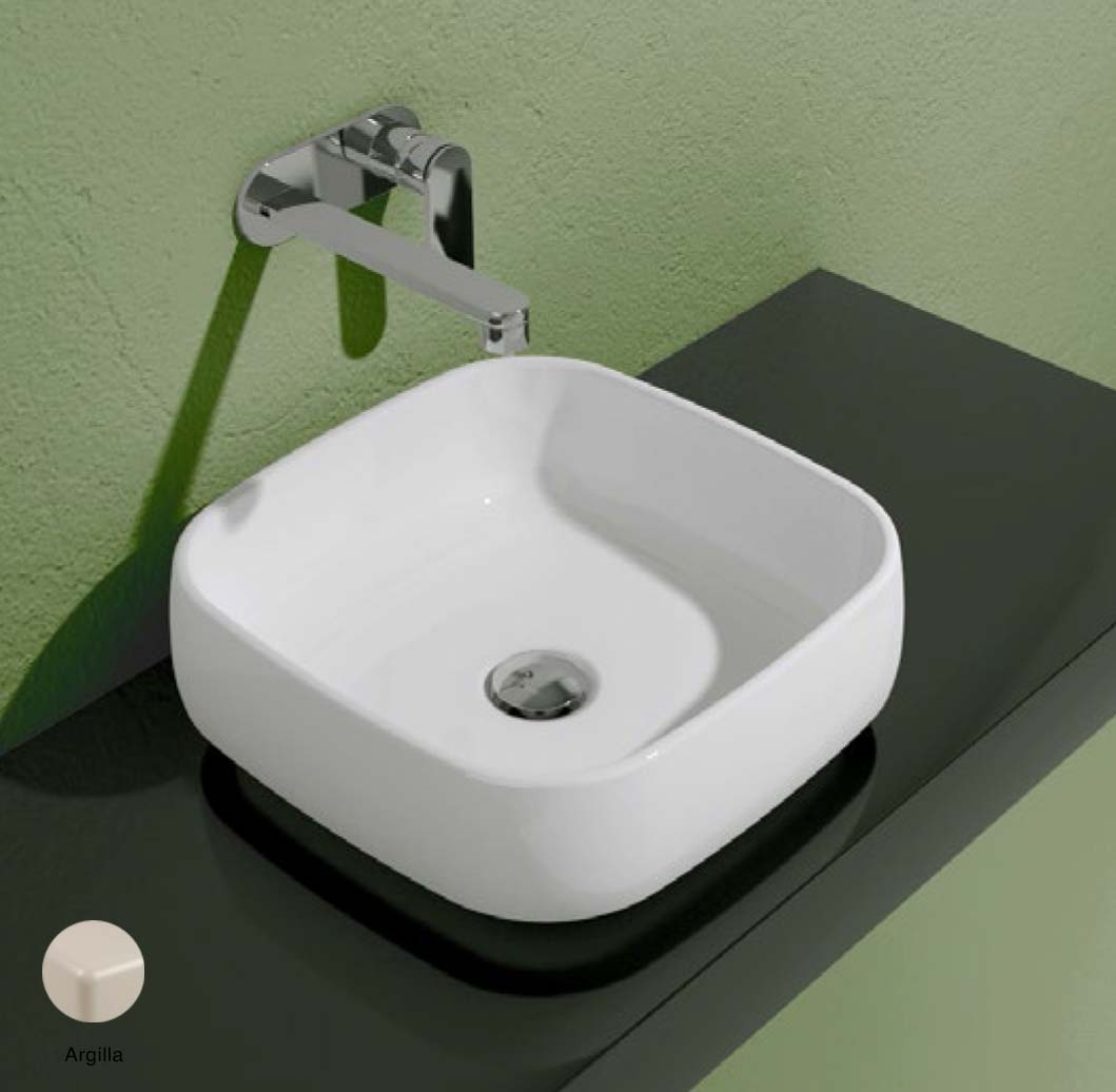 Flag Countertop basin without tap ledge 40cm Argilla Matte