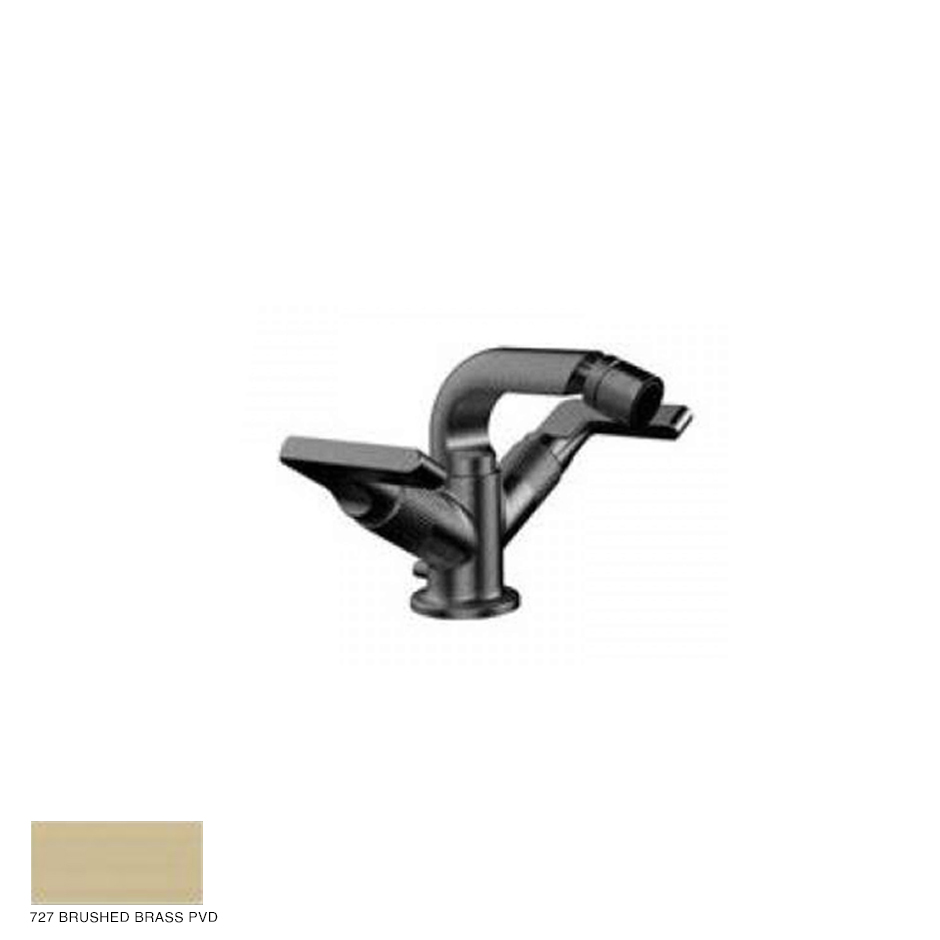 Inciso- Bidet Mixer with pop-up waste 727 Brushed Brass PVD