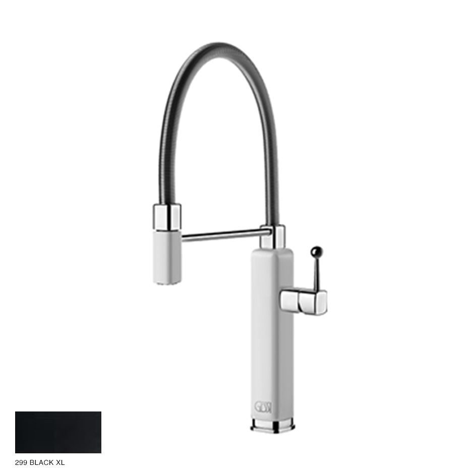 Happy rotating sink mixer with extractable jet handshower 299 Black XL
