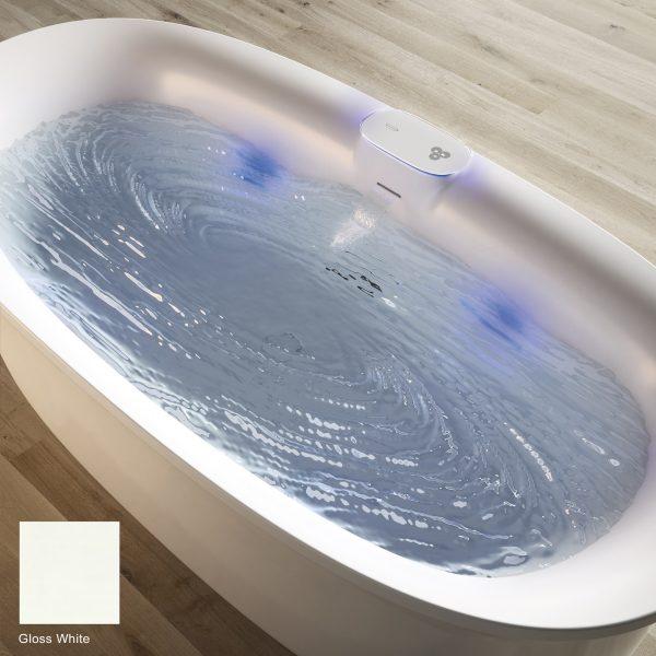 Arga Built-in Bath Gloss White 175 x 85