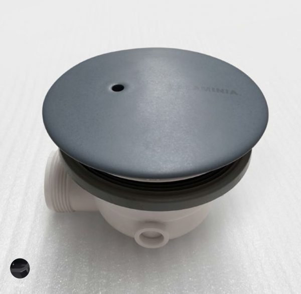 Drainage system with Ceramic cover Black