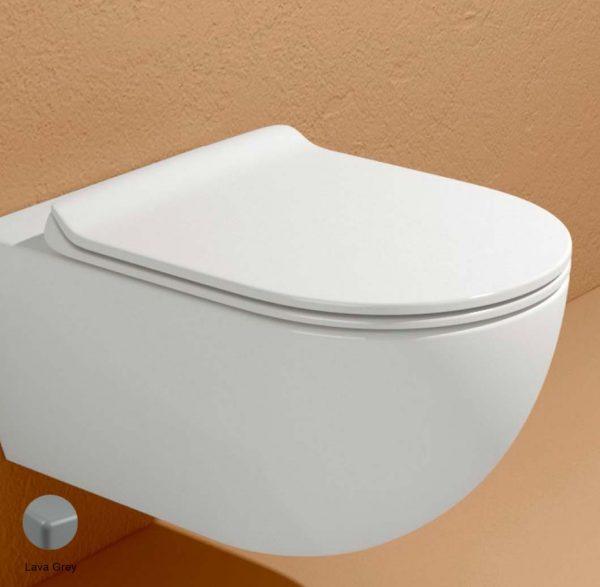 App Slim Soft-closing thermosetting seat&cover Lava Grey