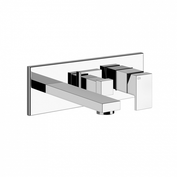 Rettangolo Shower mixer, with spout, diverter, two-way 708 Copper Brushed PVD