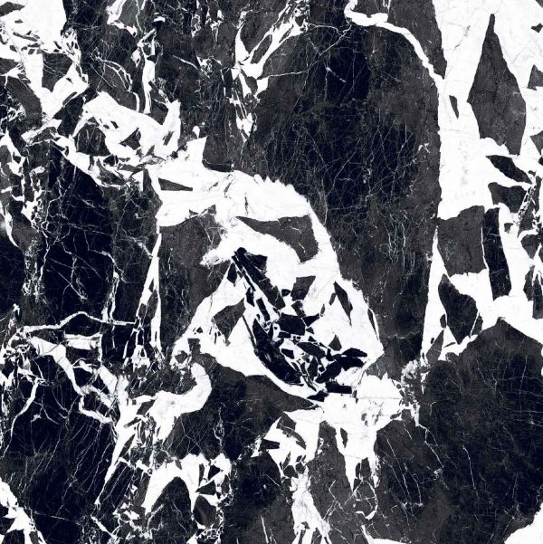 BW Marble Fragment Glossy 6mm 120 x 120