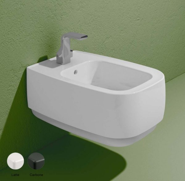 Flag Stripes Wall hung bidet with goclean system Latte-Carbone Matte