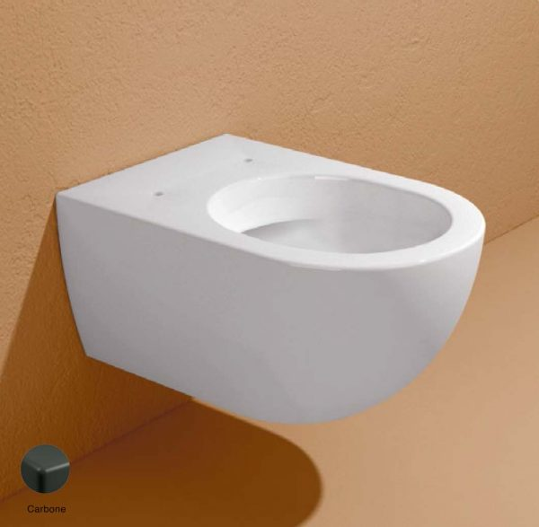App Wall hung WC with goclean system Carbone