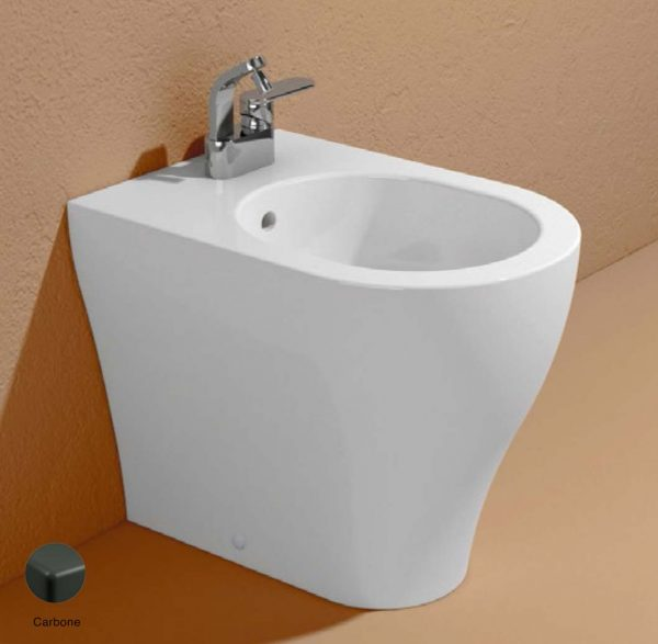 App Back to wall single-hole bidet with overflow, without tap hole Carbone