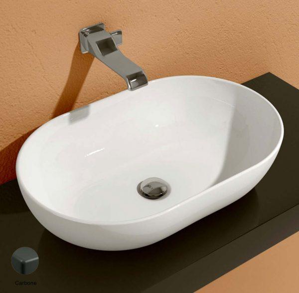 App Countertop Basin 62 cm Carbone Matte